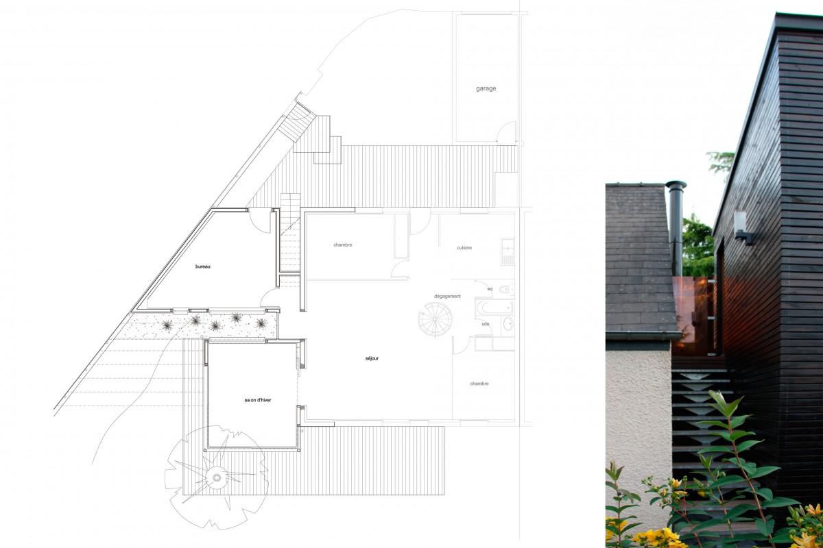 Claire Gallais Architectures - Maison à Rennes - 2009